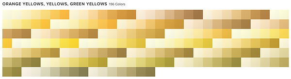 ORANGE YELLOWS, YELLOWS, GREEN YELLOWS 242 Colors