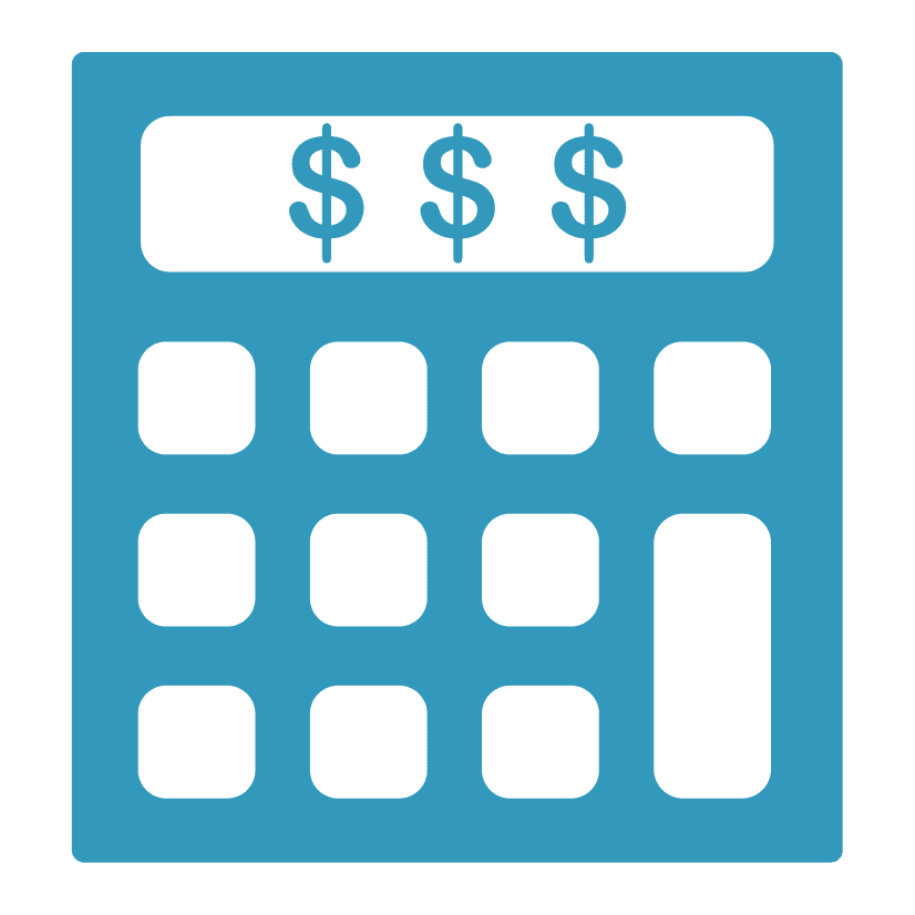 Calculator Icon for Bookkeeping Services for Accu Dart Bookkeping