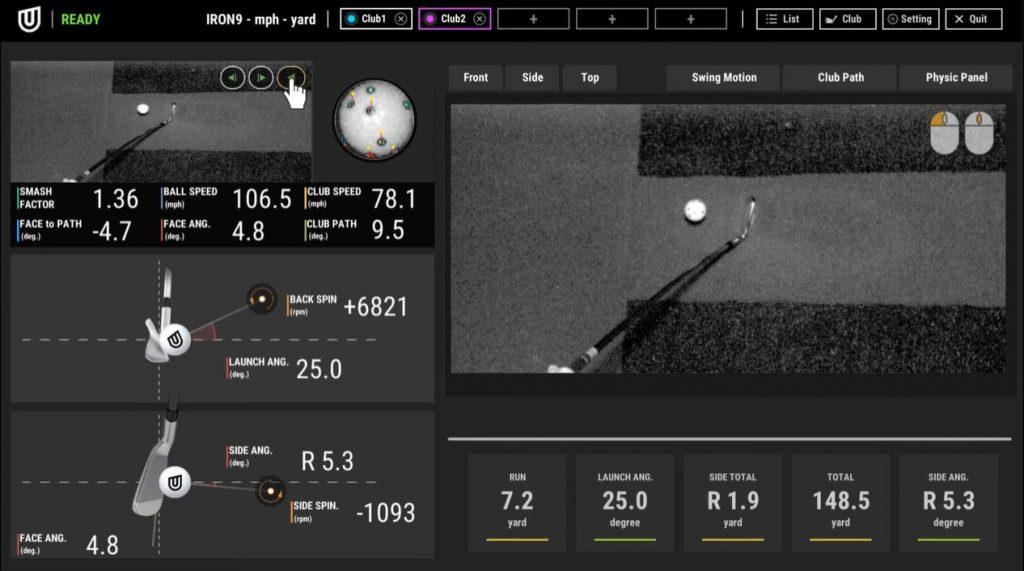 uneekor qed golf simulator club path video