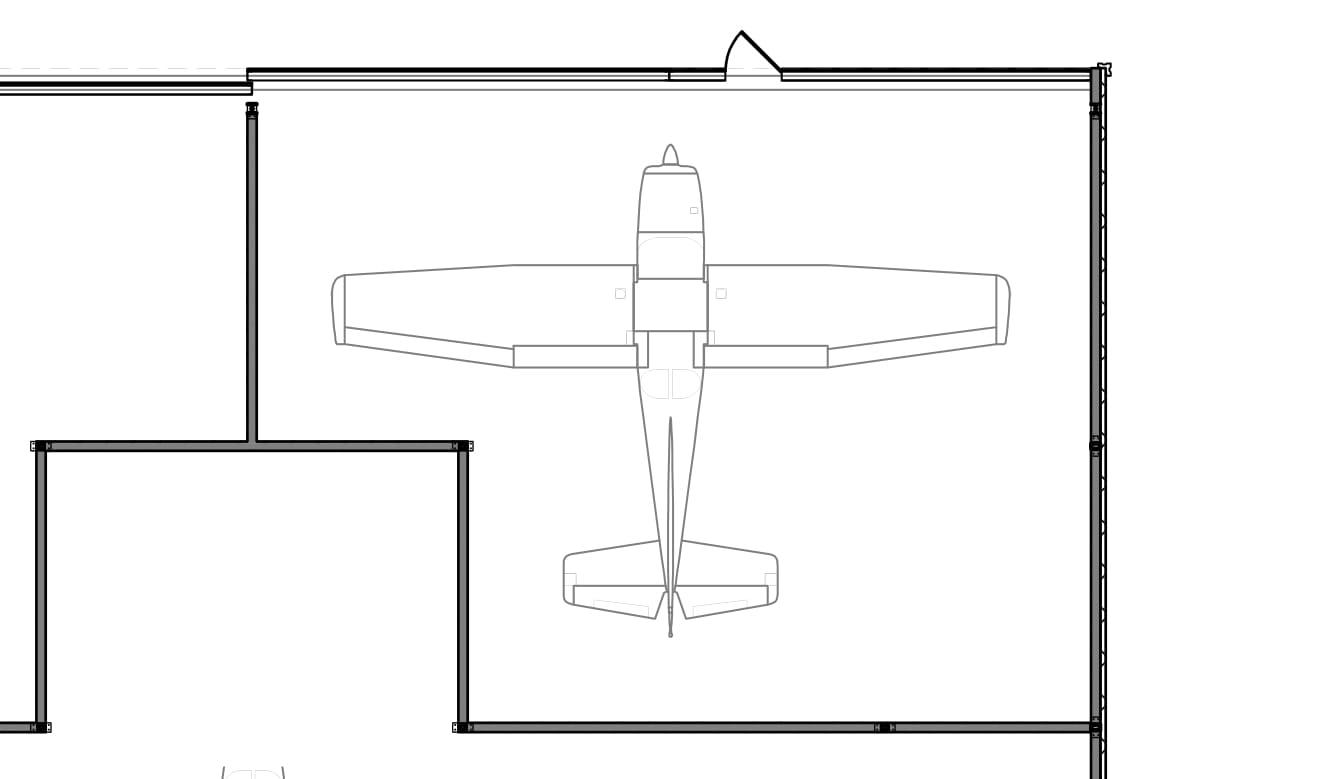 45' Door / 33' Depth               plus  180 sq. ft. workshop