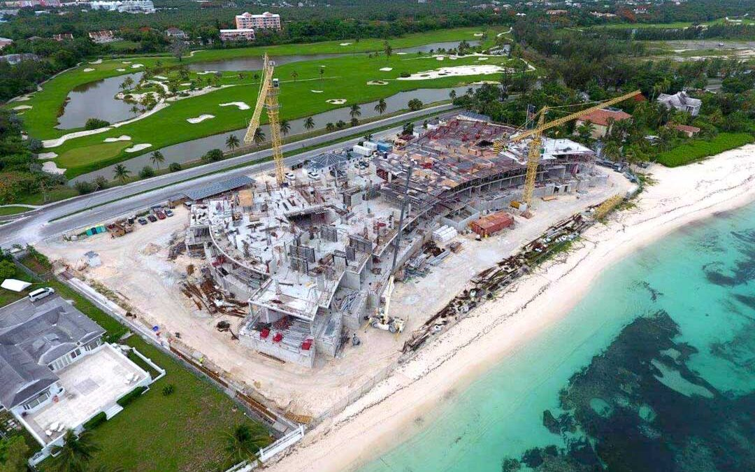 Bahamas Real Estate Development under construction on Cable Beach