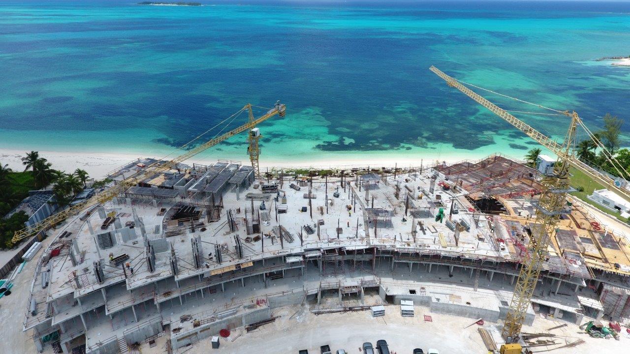 Bahamas luxury residence construction on Cable Beach