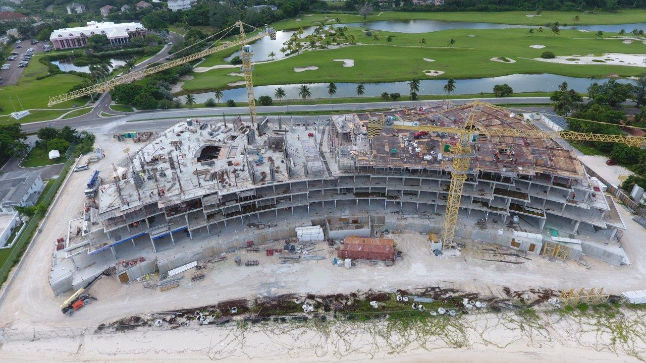 Aerial image of Goldwynn Residences under Construction - Aug 2020