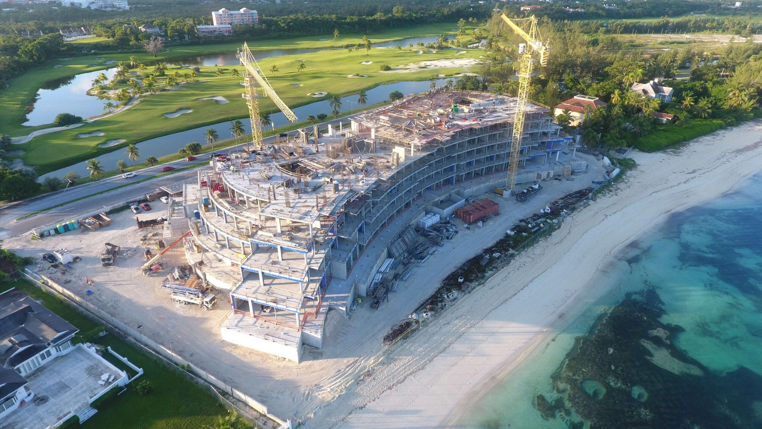 October Sunshine on Construction Progress