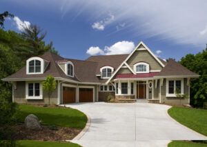 Newly constructed home exterior.