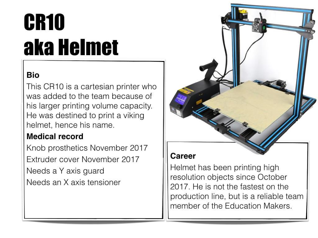 3D printer CR10 aka Helmet - Bio