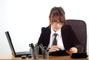 business woman at desk #19