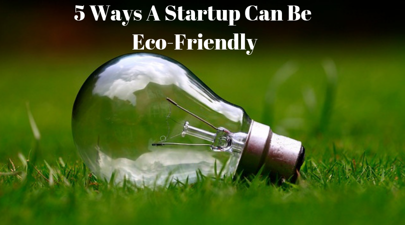 5 Ways A Startup Can Be Eco-Friendly
