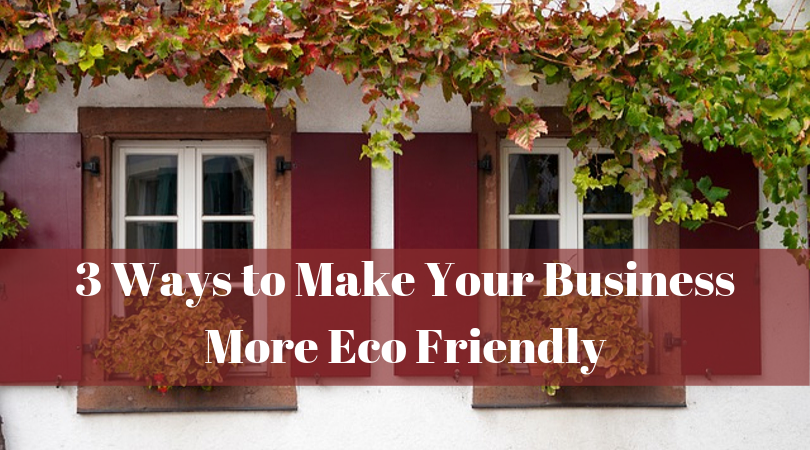 3 Ways to Make Your Business More Eco Friendly