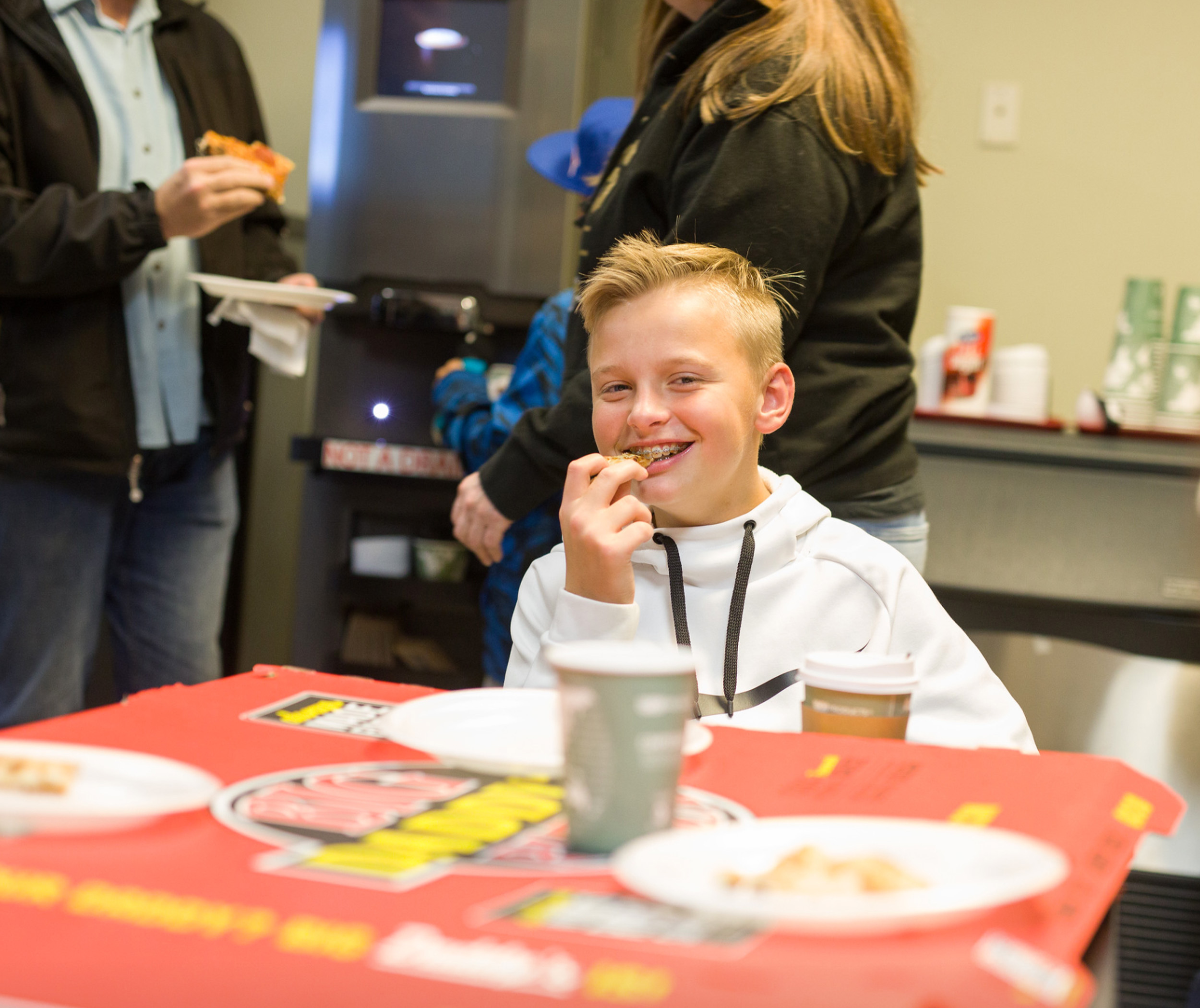 Spectrum Solutions Thanksgiving Hero's Pizza Party