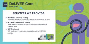 UCSF DeLIVER Care van schedule and site list