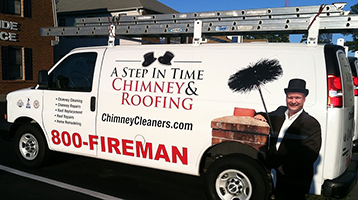 """""""Chimney Services"""" A Step in Time Van"""