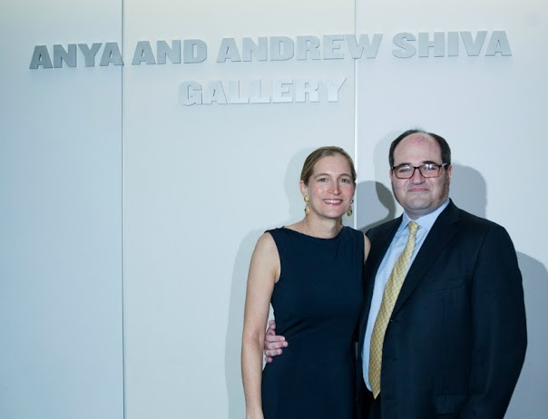 Anya and Andrew Shiva at the opening of the Anya and Andrew Shiva Gallery.