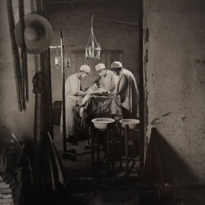 Country Doctors in a Farming Home Perform Outpatient Surgery Chengzhang Commune