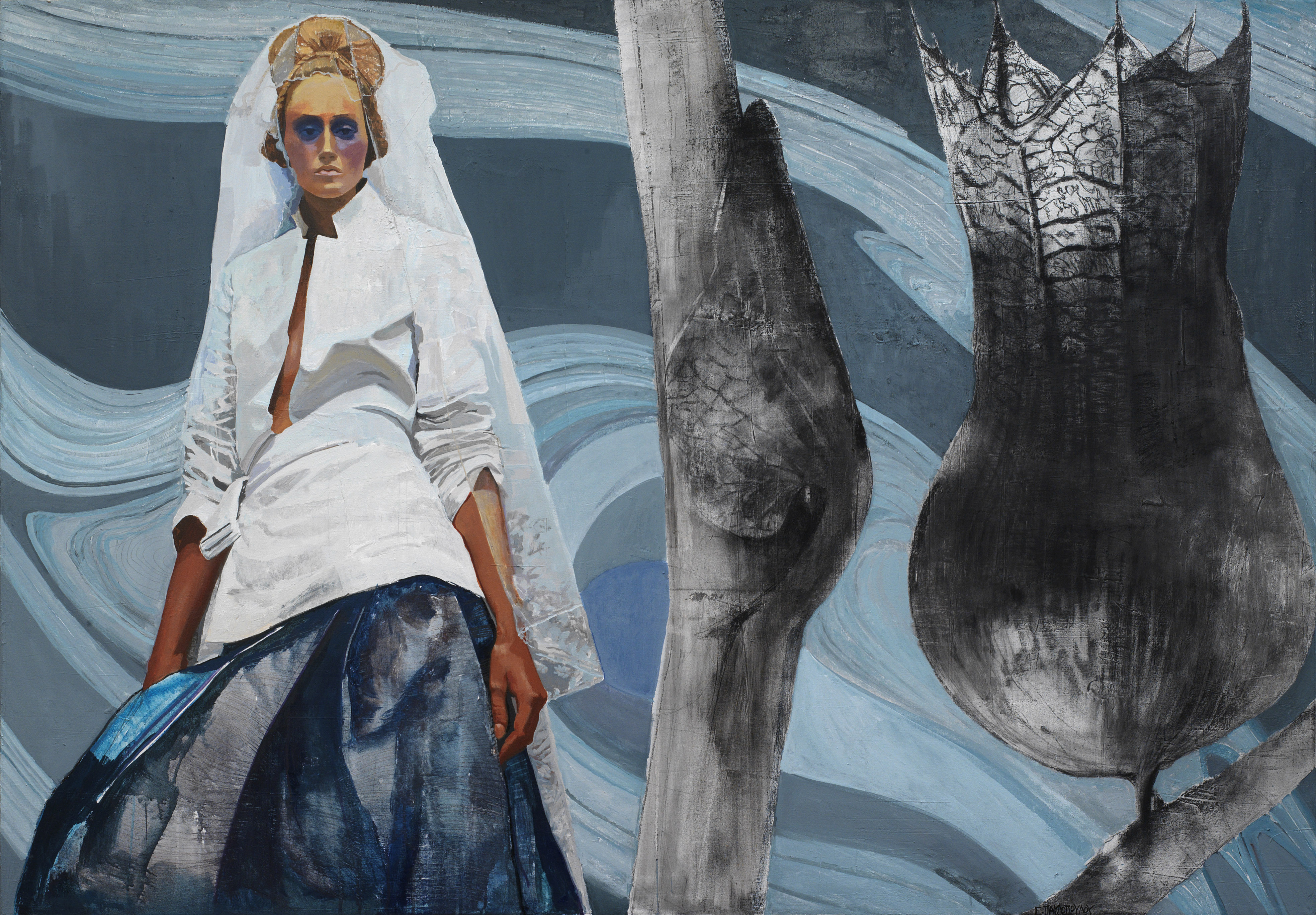 Helene Pavlopoulou, Parallel Universes,,mixedmediaonreliefoncanvas,xcm.