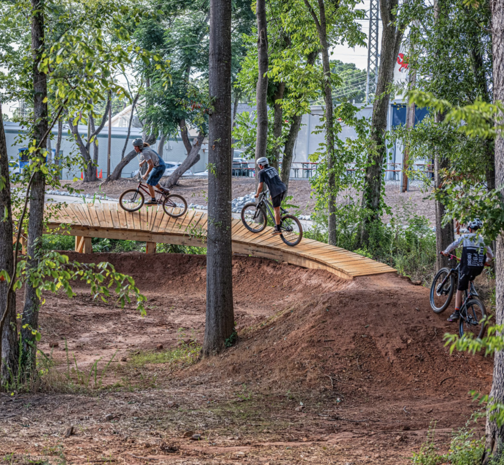 Wooden Bank Turn
