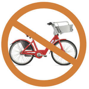 bcycles not allowed in bike park