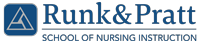 Runk & Pratt School of Nursing Instruction Logo