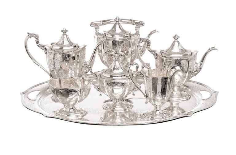 sterling tea set sliver flatware holloware