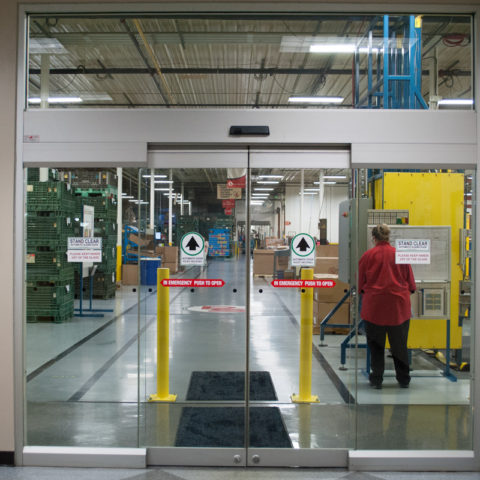 Press-Seal sliding doors to plant
