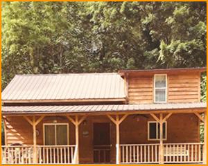 Knotty Poplar Cabin Rentals