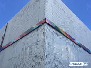 aluminum CNC halftone architectural art piece aluminium CNC tram? pi?ce d'art architectural uMake.ca umakefactory