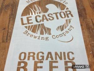 Reusable stencils for spray or roll painting. Beer branding uMake.ca umakefactory