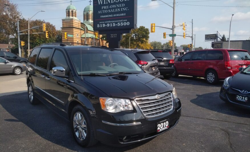 2010 Chrysler Town & Country Limited – Nav, Back-up Camera, DVD, Bluetooth, Leather, Remote Start