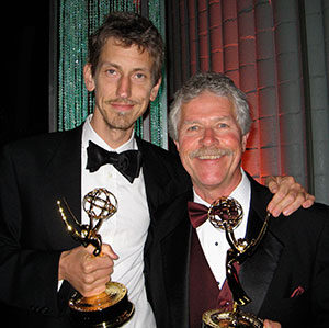 two Emmy awards for Outstanding Achievement in Documentary and Outstanding Graphics and Animation in a Program. Animation by Charlie Canfield.