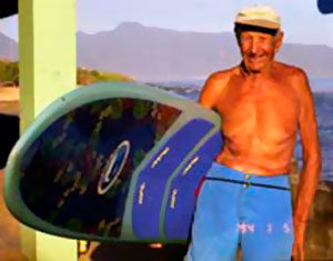 94 year old Surfer, Woody Brown