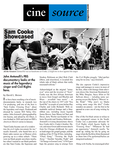 Cine Source Sam Cooke, by David L. Brown