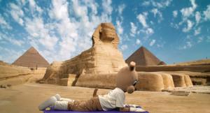 Sphinx pose