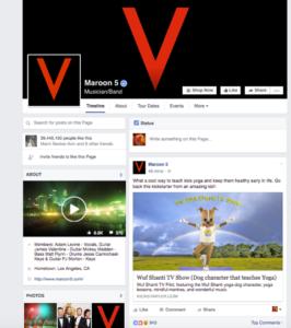 Maroon 5 FB Page
