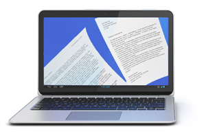 Laptop with Digital Documents