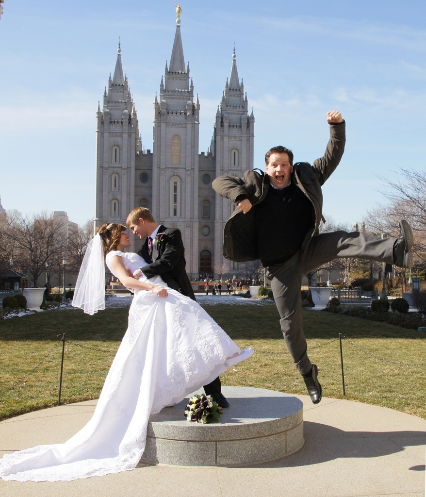 salt lake city temple wedding photos