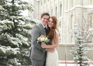 winter temple wedding photography