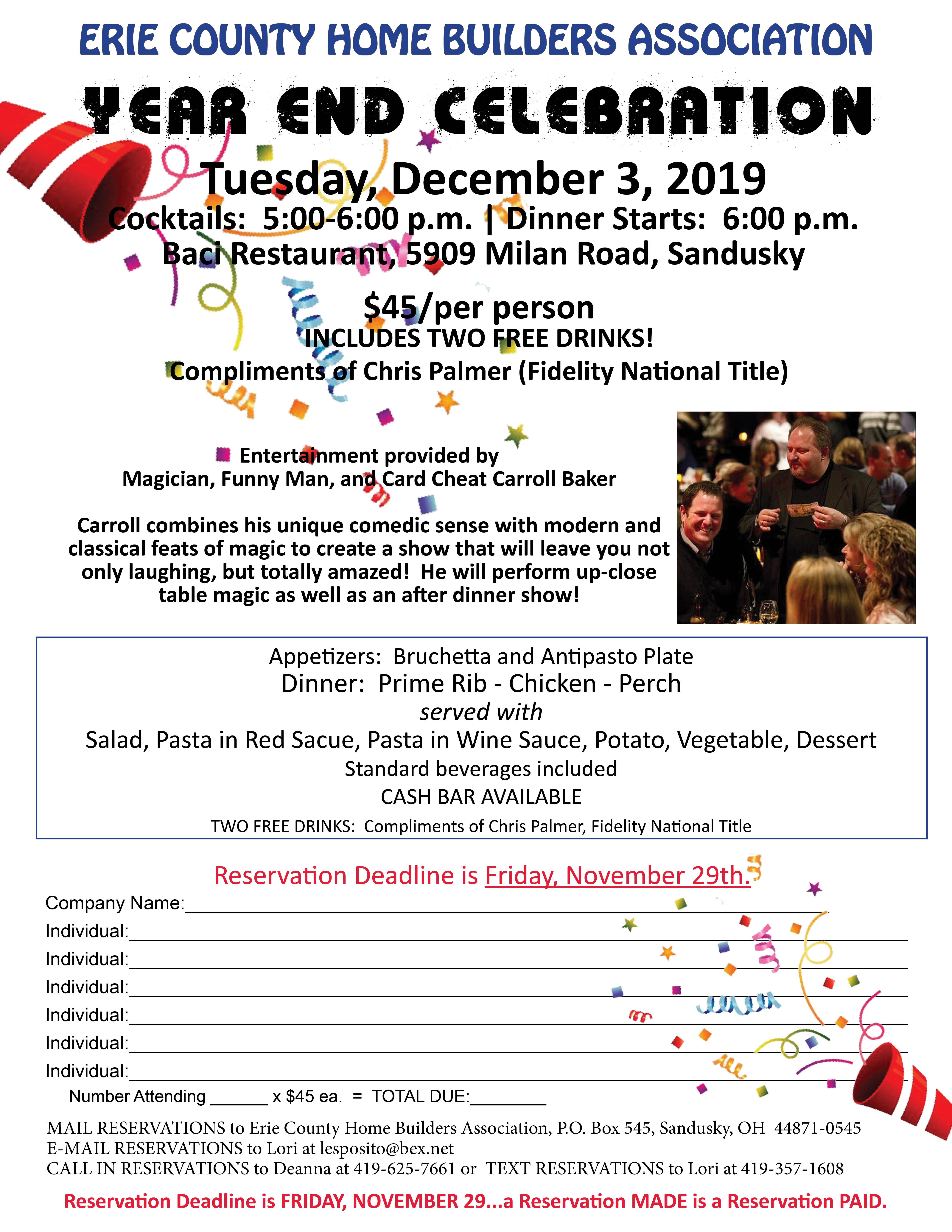 December 3 2019 Year End Celebration