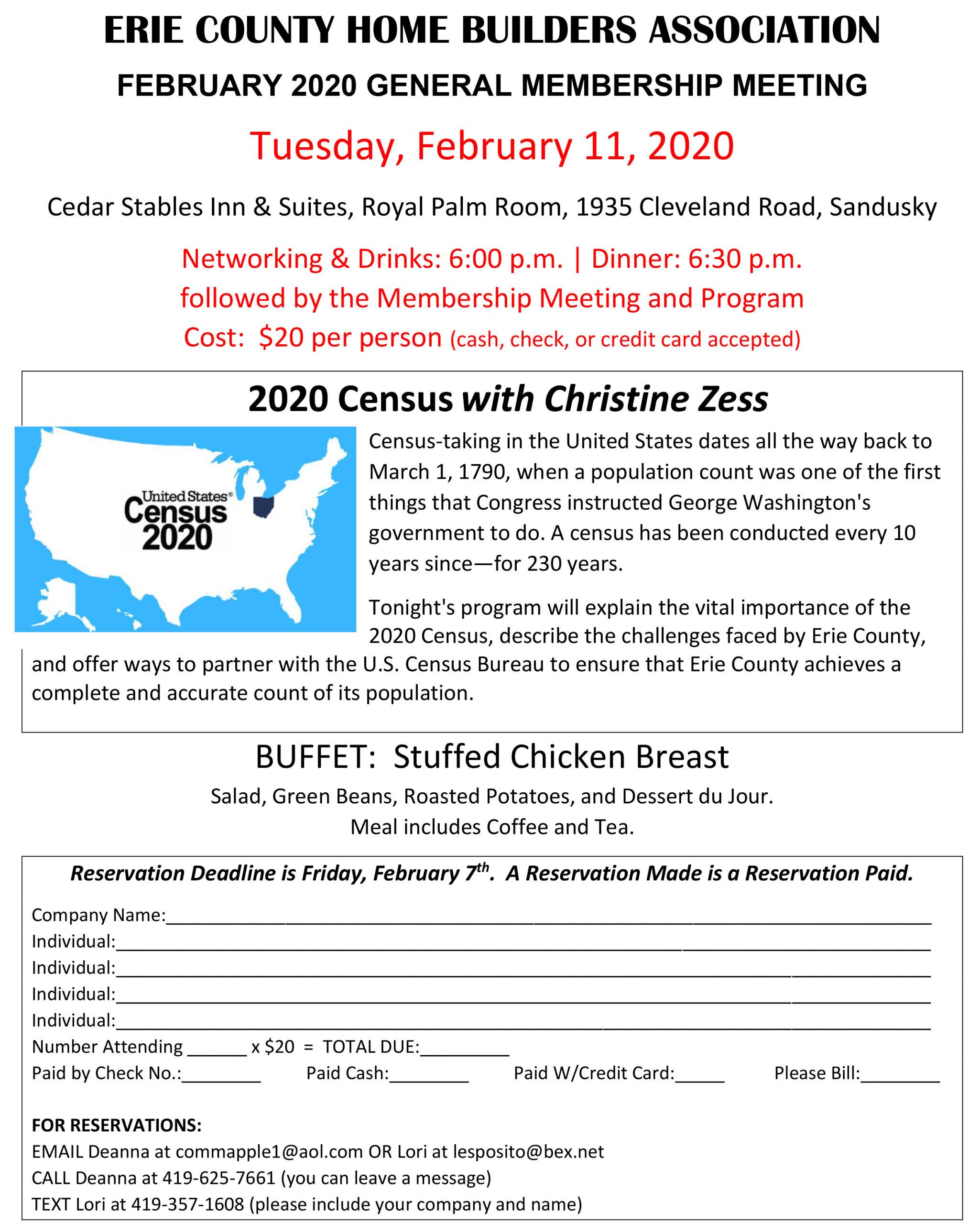 February 2020 Meeting Flyer