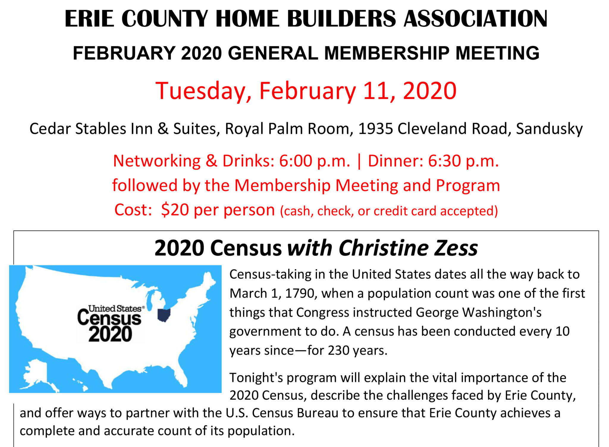 February 2020 Meeting Flyer