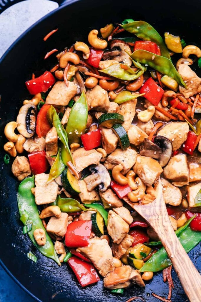 keto meal plan cashew chicken