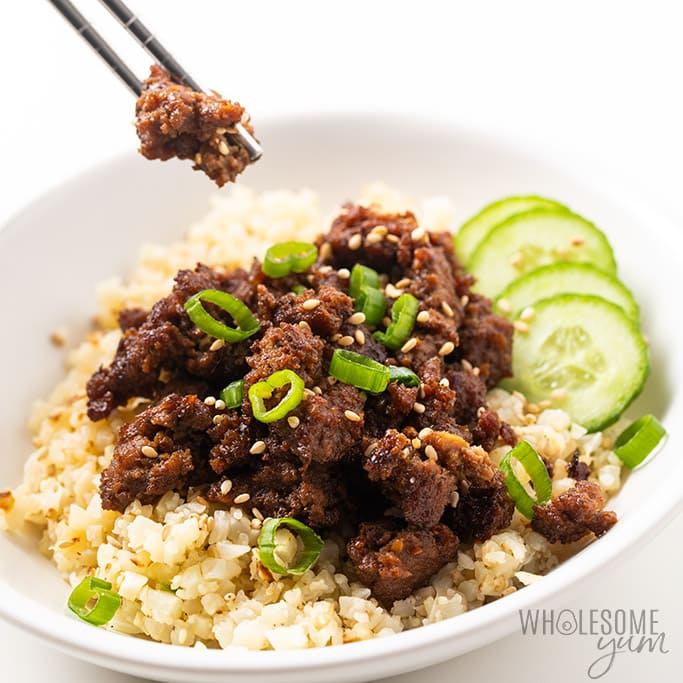 keto korean ground beef bowl