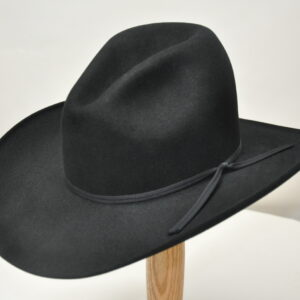 black gus hat with matching hatband