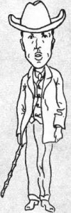 Karel Čapek.self-caricature