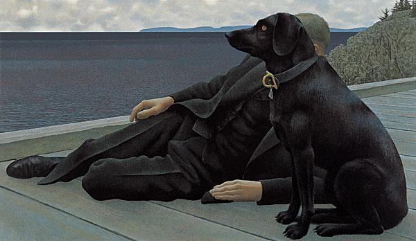 alex_colville_1978_Dog_and_Priest