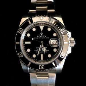 Rolex Stainless Steel Submariner Date with Black Dial