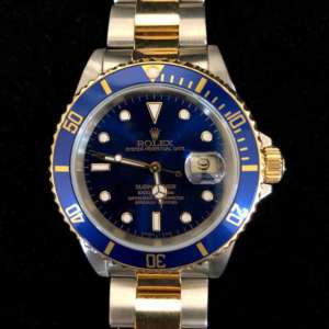 Rolex Two-tone Submariner Date with Blue Dial and Ceramic Bezel