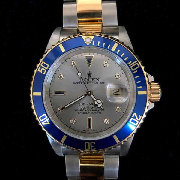 Rolex Two-tone Submariner Date with Serti Dial