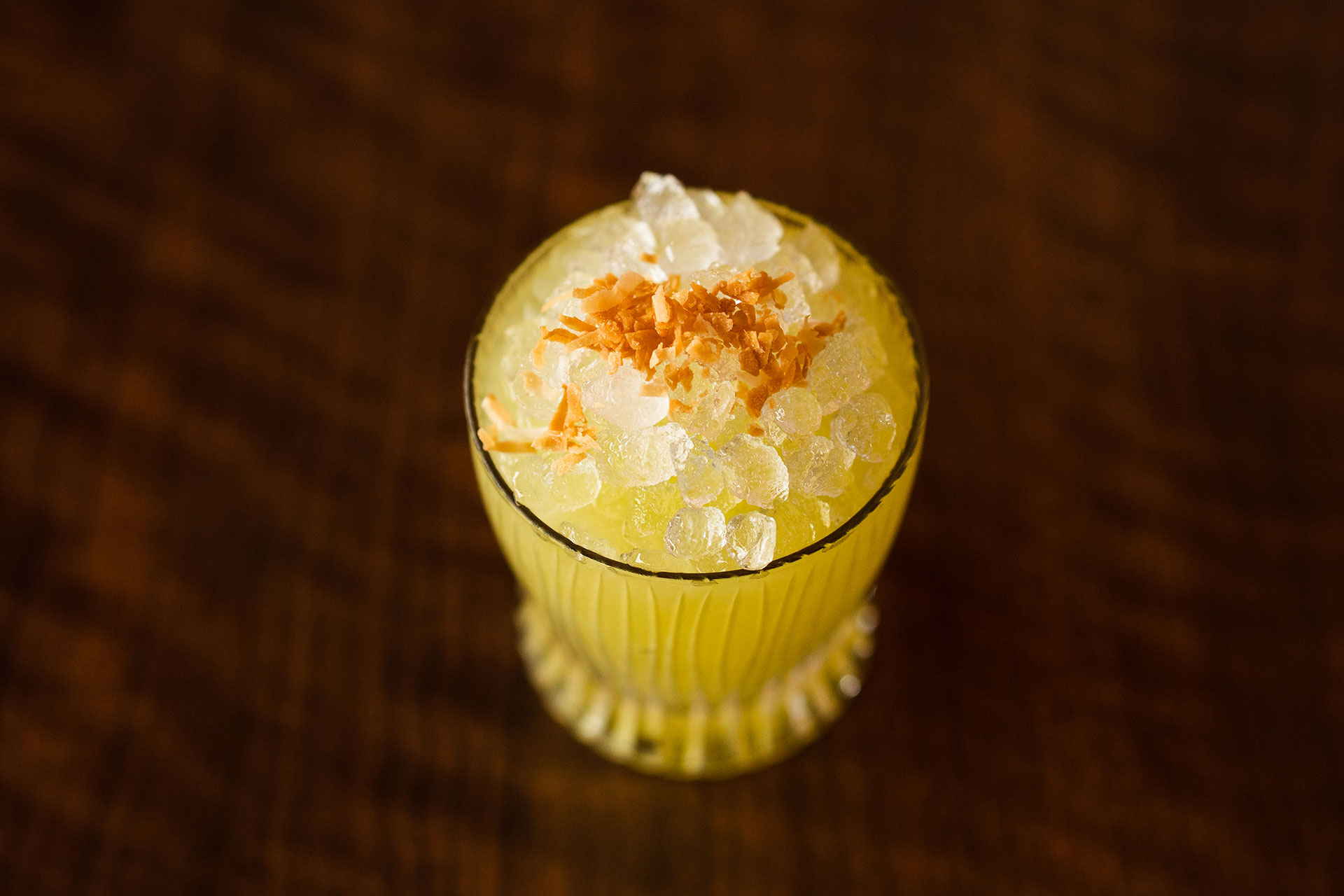 lazy susan yellow cocktail