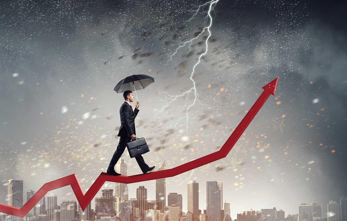 Participating But Defending as Recession Storm Clouds Build