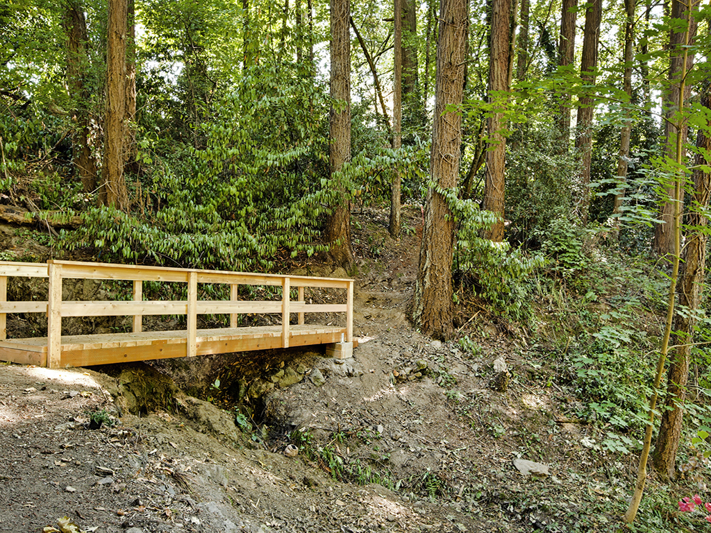Taylor Made Retreat Addiction recovery bridge in outdoor quiet meditation space